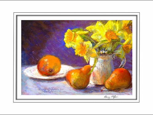FA00135 Pears & Dafodyls