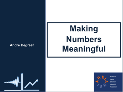 Making numbers meaningful: