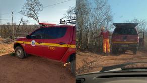 Incêndio nas comunidade de Santa Tereza e Riacho do Meio foi controlado. Informa secretário de obras