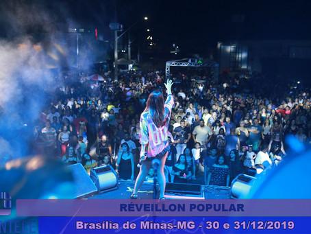 Réveillon de Brasília de Minas anima o público durante 2 dias de festa