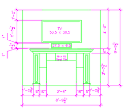 Fireplace CAD Drawing by D M Designs