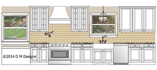 D M Designs, Kitchen Design Drawings, Yucaipa, CA, Inland Empire
