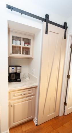Coffee Bar With Barn Door