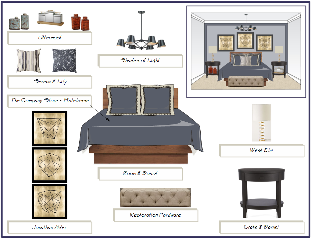 Bedroom Product Board