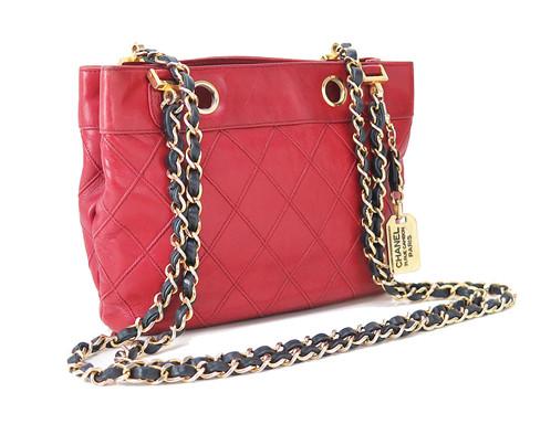 a4389bda217c9 Chanel Cotton Chain Shoulder Bag