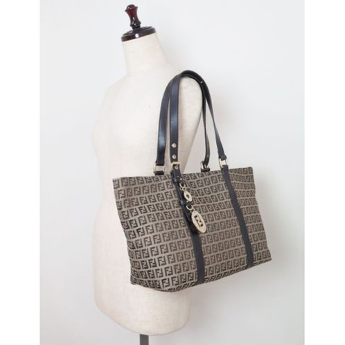 c397bd231cc5 ... denmark fendi brown zucca canvas tote shoulder bag purse 7d8f9 da219 ...