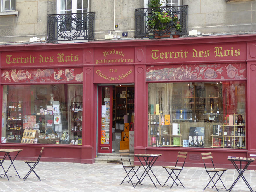 Shop in Reims, Champagne