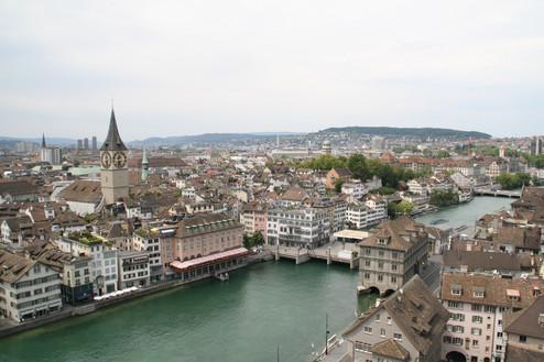 Limmat River in Zurich Old Town