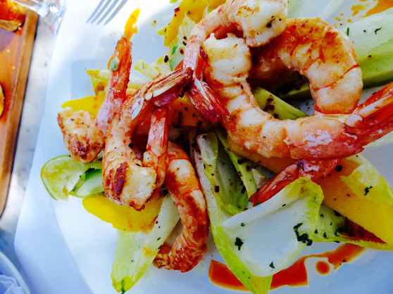 Shrimp salad at Charco