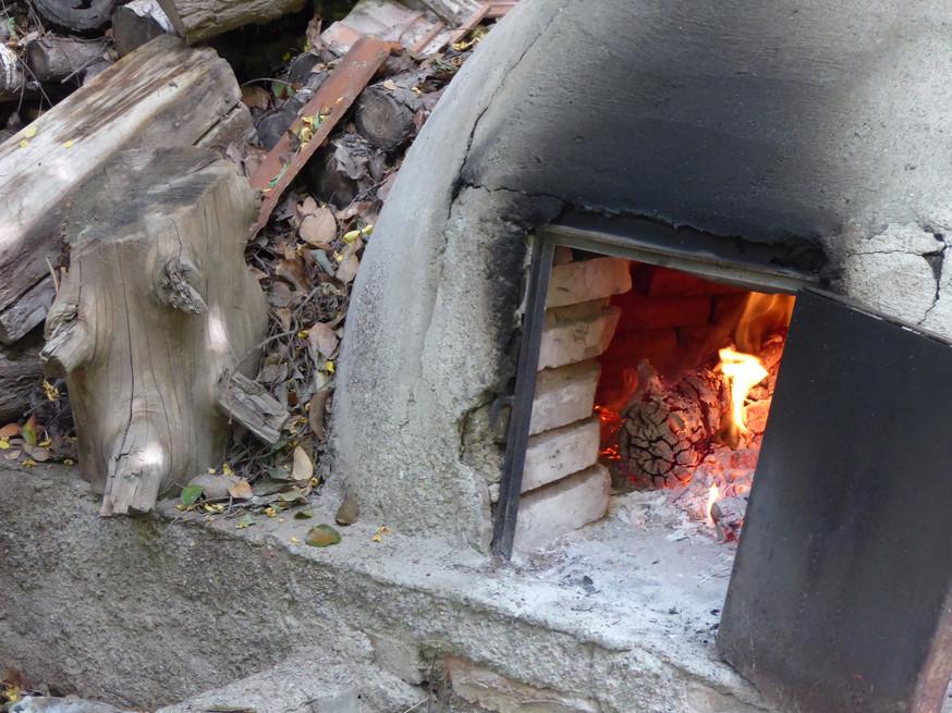 Preparing the Fire for Asado Cucina