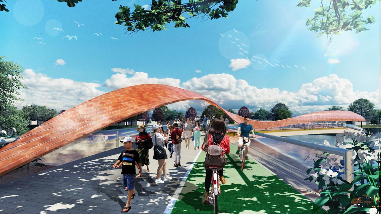 Nakhonsawan Dragon Padestrian Bridge
