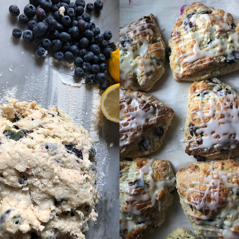 Lemon and Blueberry Scones Brooklyn Bisc