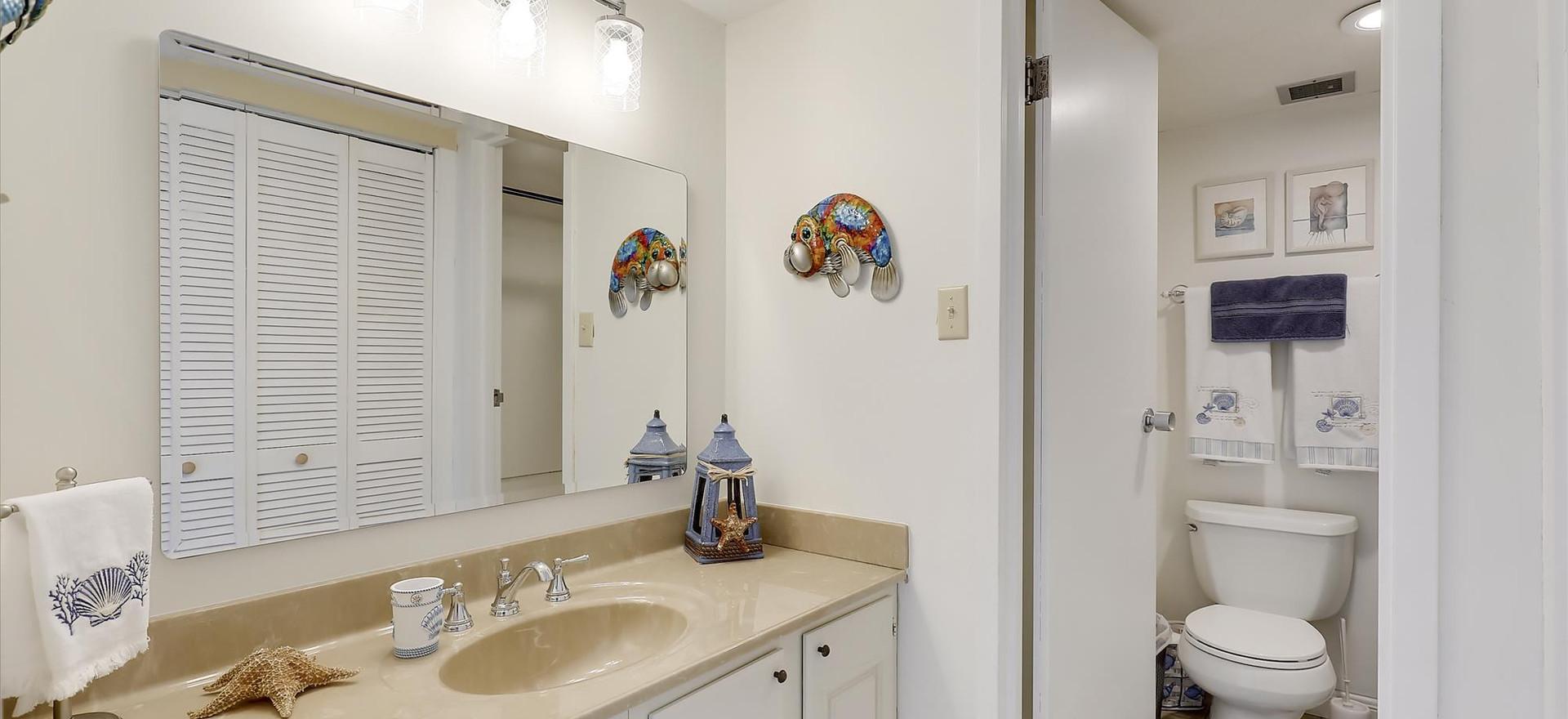 Upstairs Vanity and Bathroom