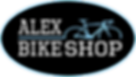 Final Alex Bike Shop Logo Black Backgrou