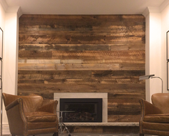 Skip-Dressed Brownboard Feature Wall