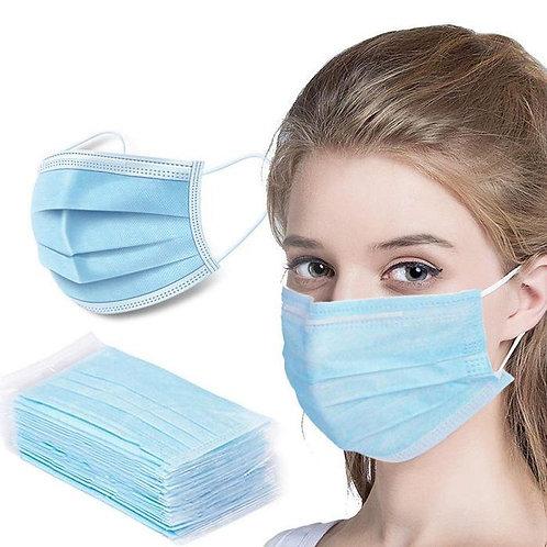 50 Face Masks Breathable Sterilized Non Woven Breathable