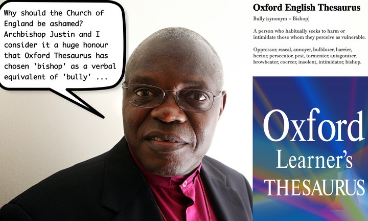 """Bishops bashed, redefined as """"Bullies"""" in new Oxford Thesaurus"""