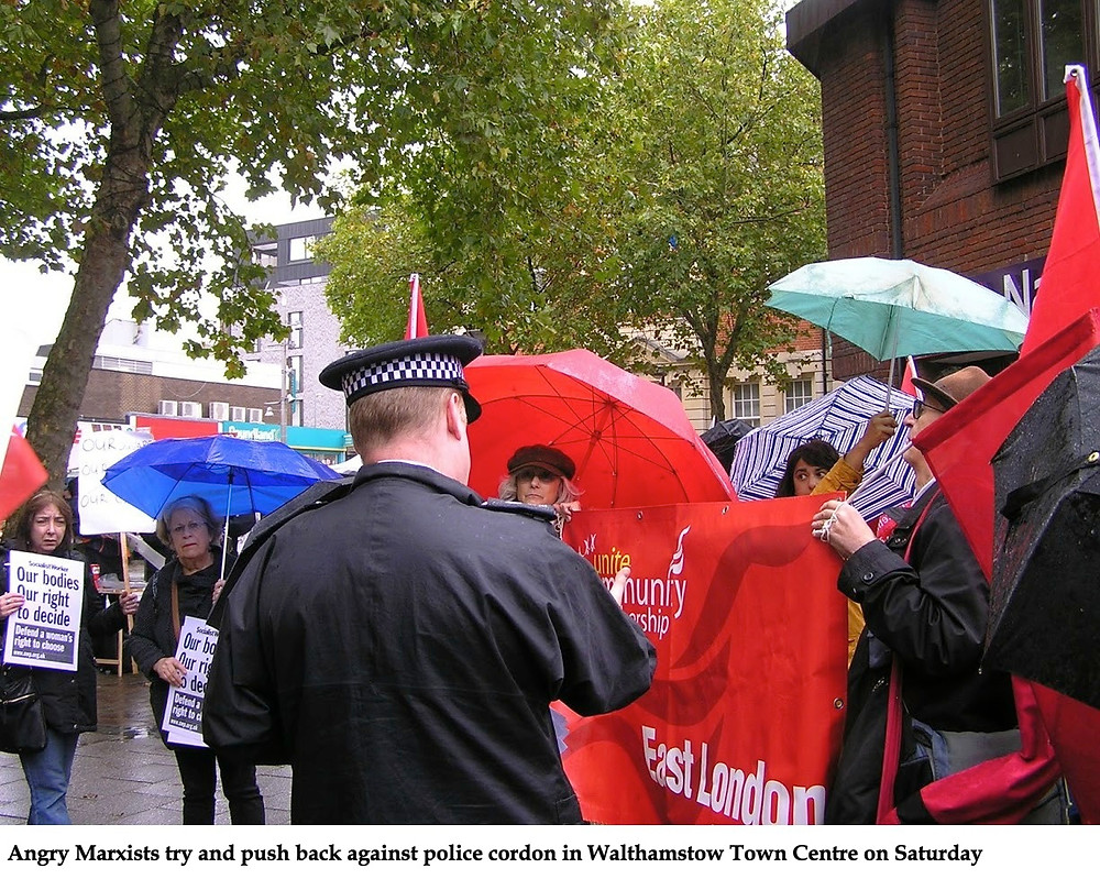 Socialist Workers Party pro-abortionists in Walthamstow