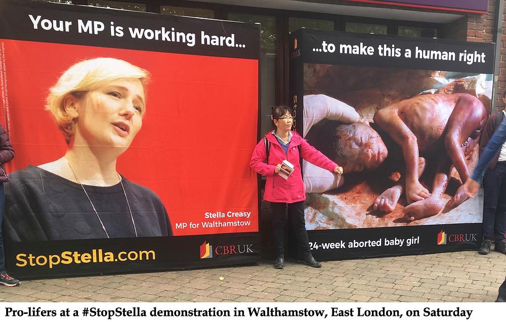 Stella Creasy and the #StopStella display