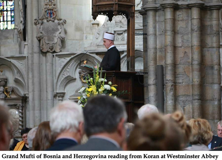 Koran read at Westminster Abbey as Royal Cathedral bows to Islam