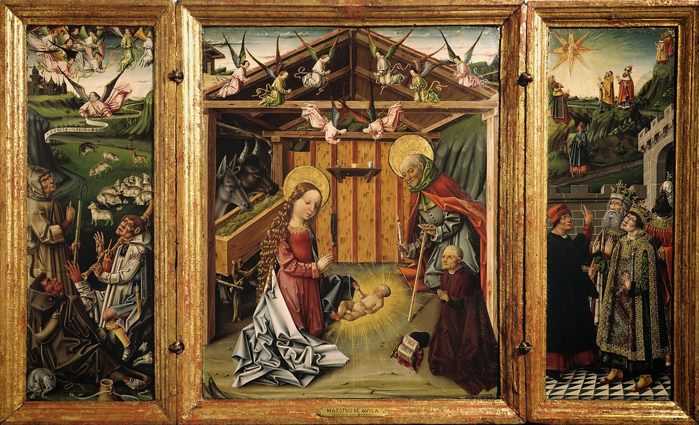 Garcia del Barco, Triptych of the Nativity