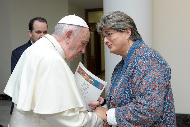 POPE MEETS WITH NOTORIOUS ANGLICAN LESBIAN ACTIVIST