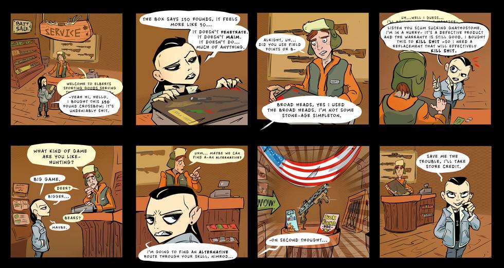 Gunstore Comic