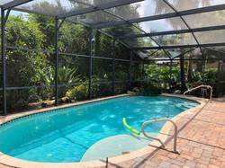 swimming pool enclosure cage screen cleaning service, DeLand, Orange City, Heathrow, Deltona, FL