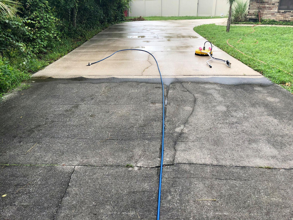 driveway pressure cleaning washing, Delt
