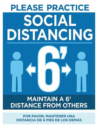 Social Distancing Free Downloadable Sign