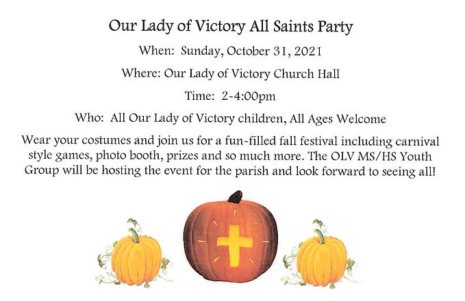 OLV All Saints Party.jpg