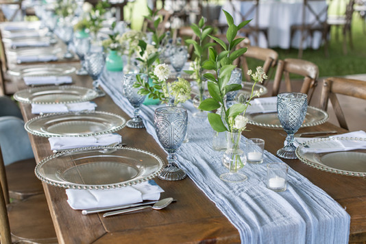 table settng whalehead club Outer Banks
