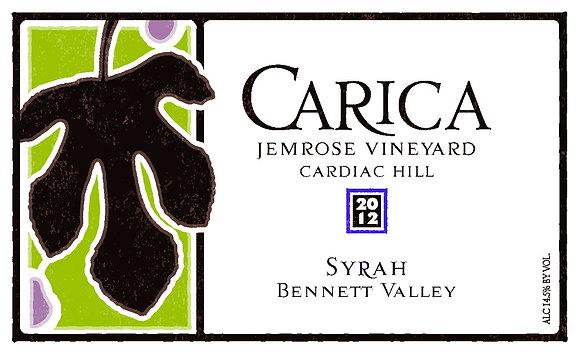 2012 Syrah, Jemrose Vnyrd, Bennett Valley, Sonoma