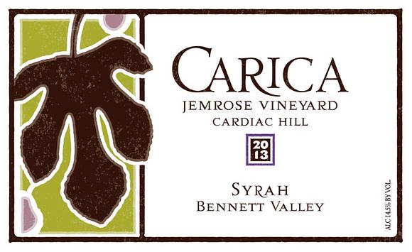 Syrah 2013, Jemrose Vineyard Bennett Valley, Sonoma