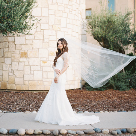 Bridal Portraits at an Italian Inspired Venue