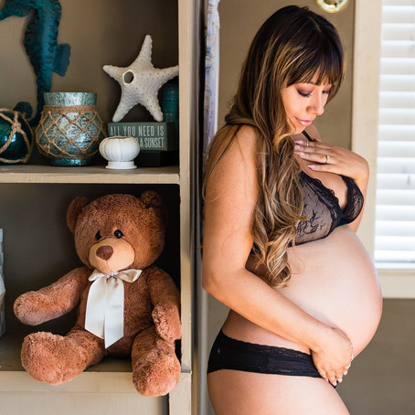 In-home Maternity Session with Leslie