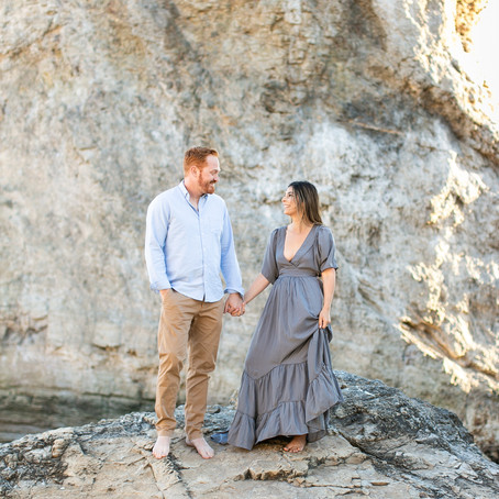 Jessica & Dane's Winery & Beach Engagement Session
