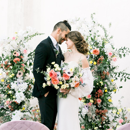 Colorful Watercolor Wedding Inspiration