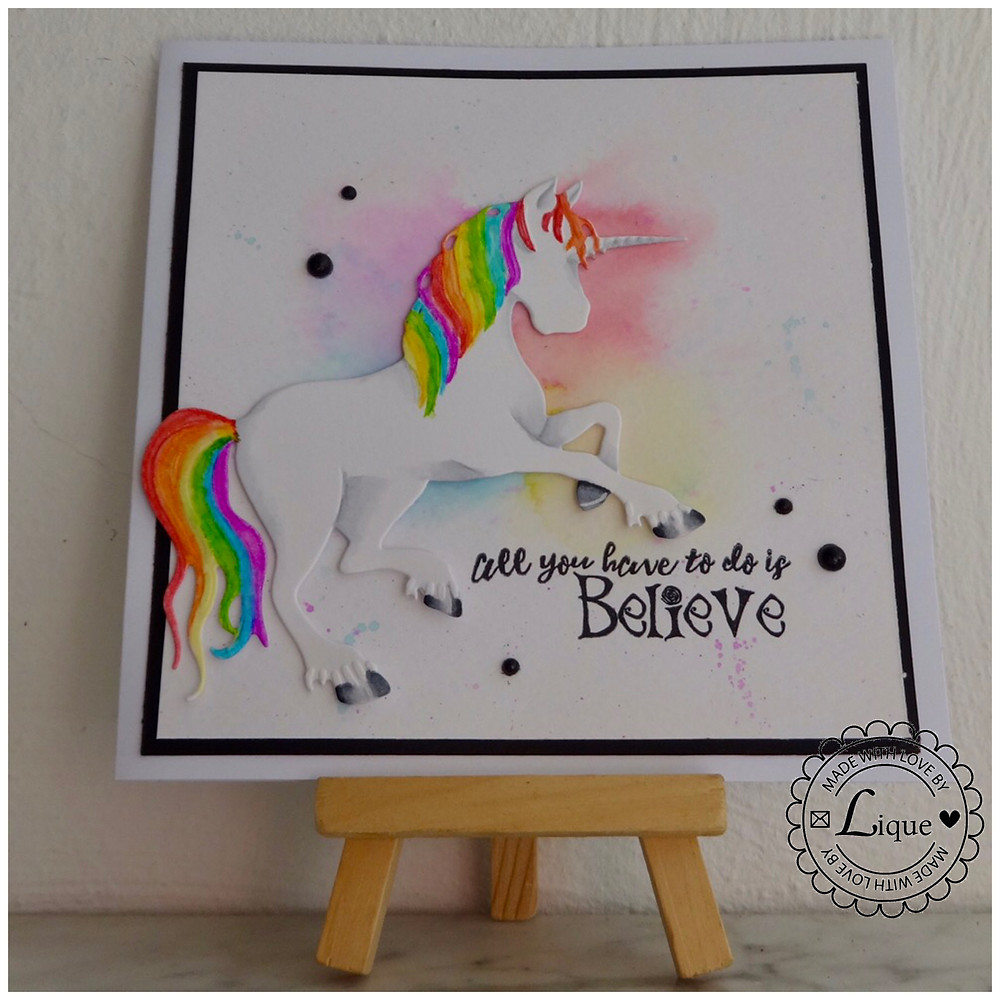 Believe unicorn card