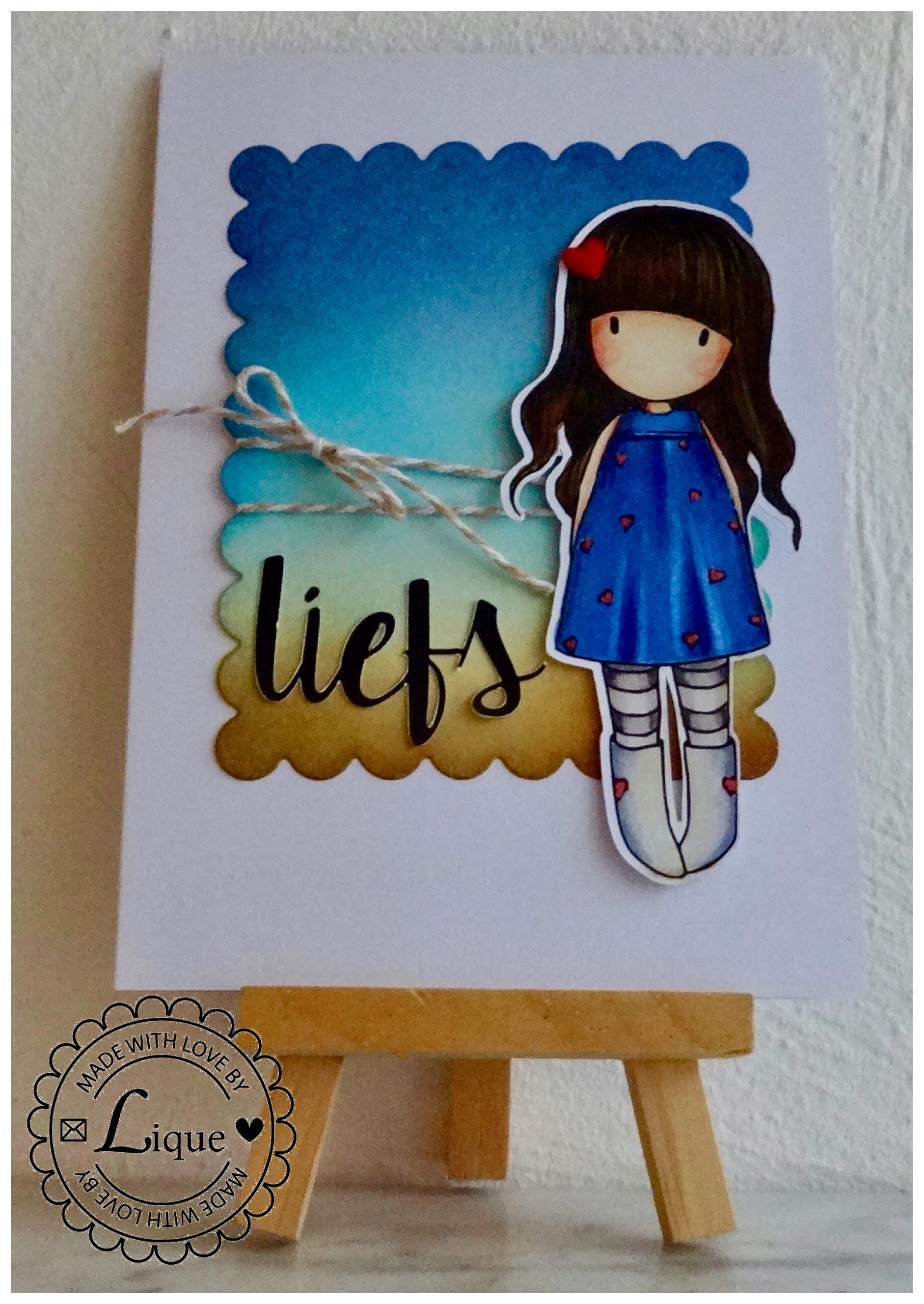 Liefs (with love) Gorjuss card