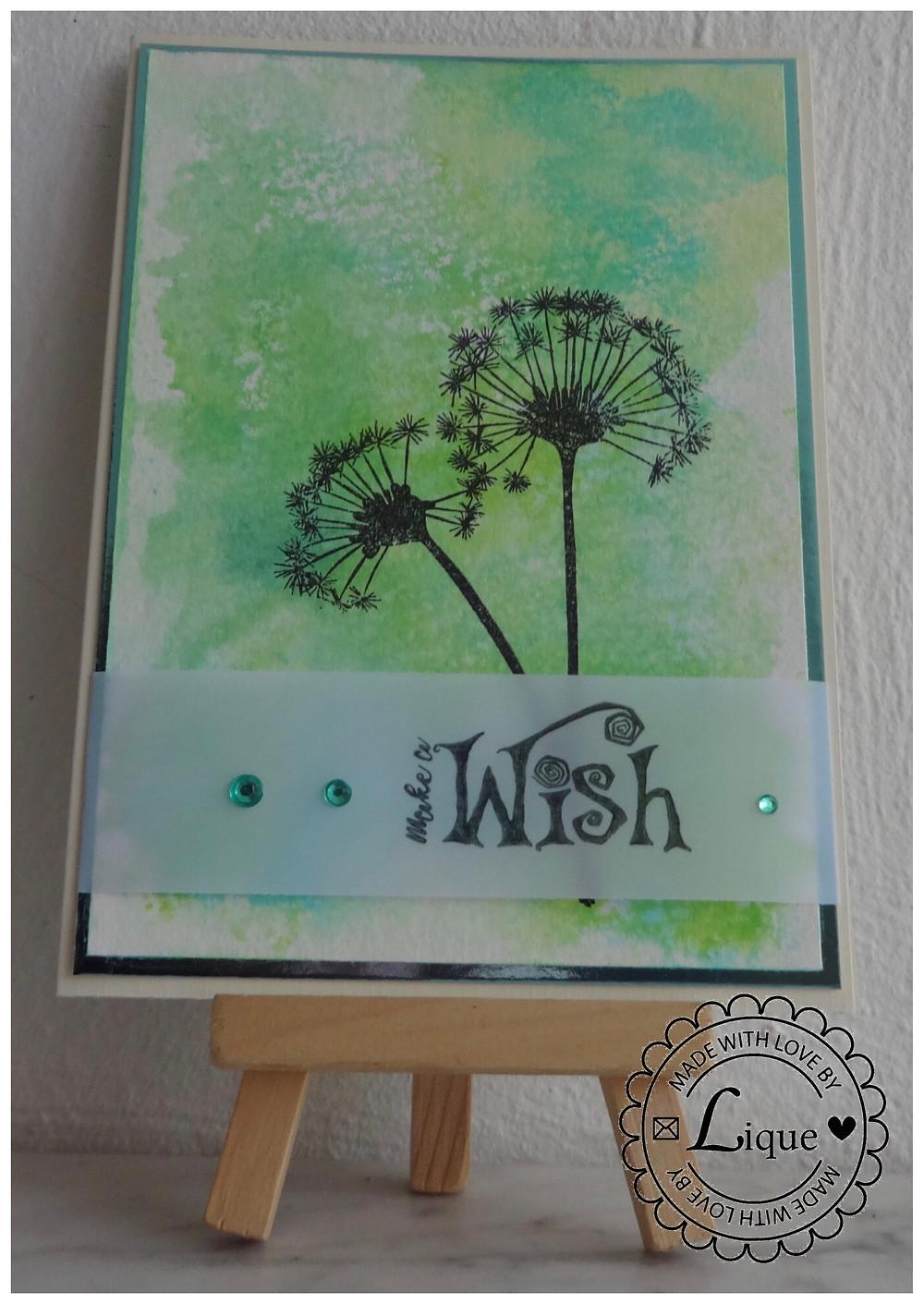 Dandelion make a wish card