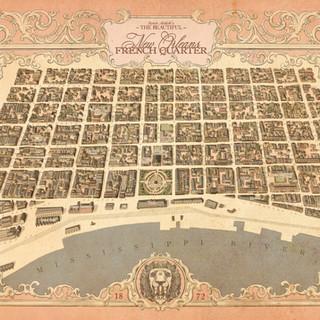 New Orleans French Quarter 1872