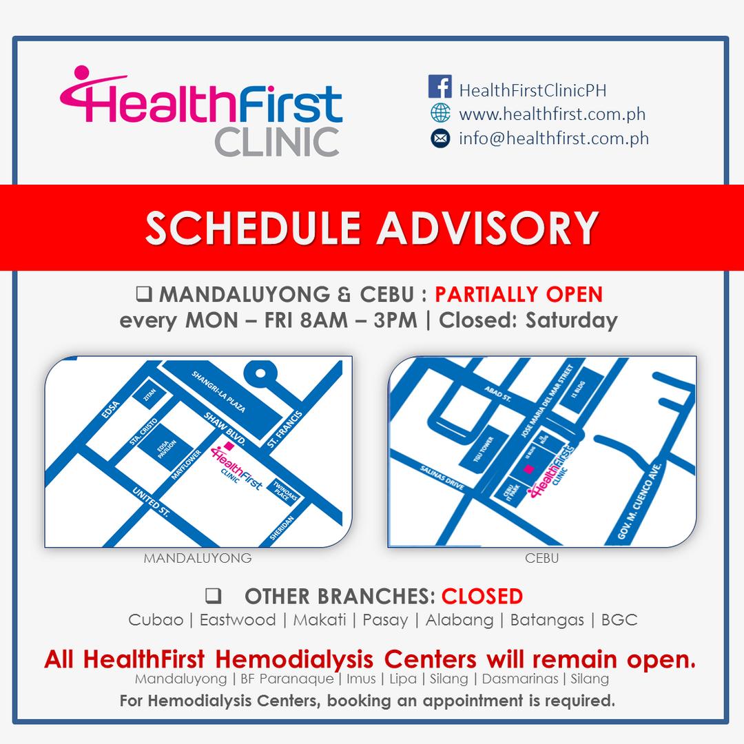 HF Advisory_COVID Sched_Summary_March 29