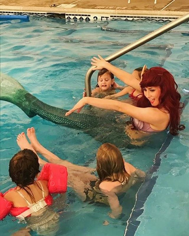 Splashing around _theatlanticclub 💦 #thepartyfairy #princessparty #finfun #mermaid #ariel #finfungl