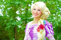 #thepartyfairyllc #rapunzel  #princessparty #partyfairy #rapunzelcosplay #hair #flowers
