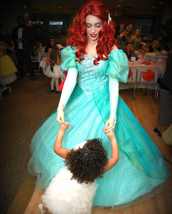 Hope a twirl with your favorite princess can get you out of this gloomy Monday mood! #mermaidmonday