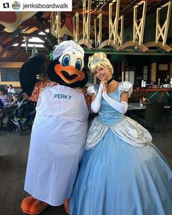 #Repost _jenksboardwalk_・・・_Perky is smitten with his dinner guest tonight! Dine with Perky at Ocean