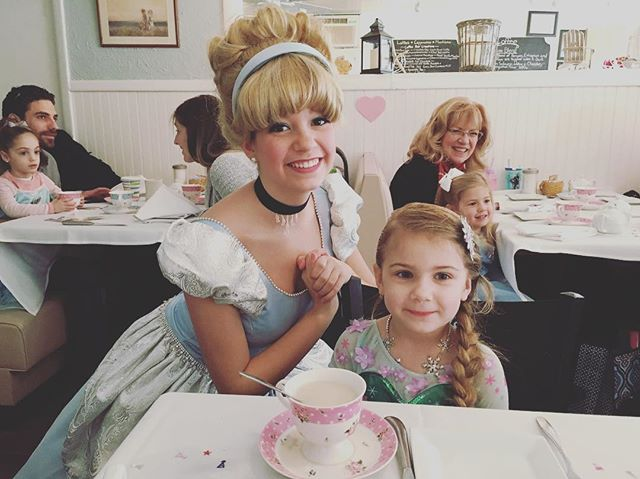 A happy little one at our Perfectly Princess Valentine Tea Party 💜💕☕️☕️🍰! We just loved meeting y