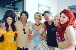 The Party Fairy Princesses hanging out with #Belmar legends and business owners Danny White of _beac