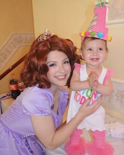 Princess Sofia is making this little on happy on Labor Day Weekend 💜 #princessparty  #disney #sofia